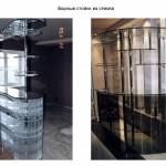 Барные стойки и ресепшн из стекла 13