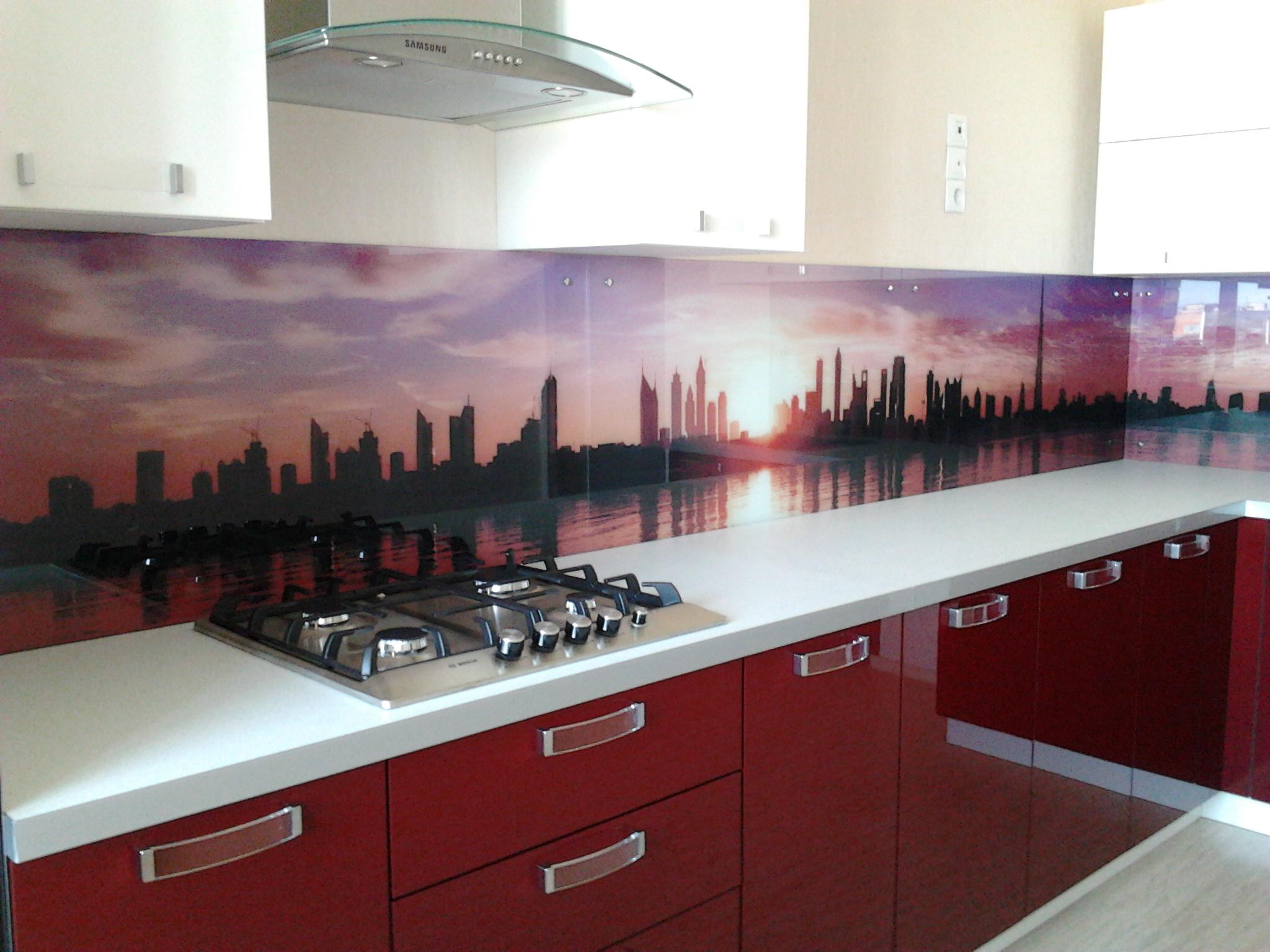 фартуки из стекла фото для кухни