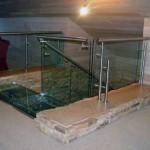 Лестничные ступени и ограждения из стекла 32