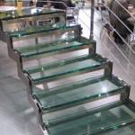 Лестничные ступени и ограждения из стекла 47