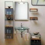 Мебель и раковины из стекла для ванной комнаты 17