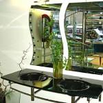 Мебель и раковины из стекла для ванной комнаты 26