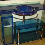 Мебель и раковины из стекла для ванной комнаты 34