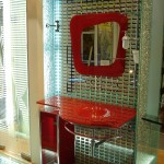 Мебель и раковины из стекла для ванной комнаты 37