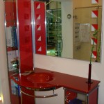 Мебель и раковины из стекла для ванной комнаты 43