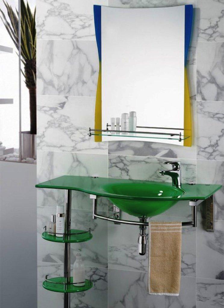 Стеклянные ванные мебели квартиры дизайн ванной комнаты